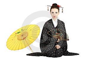 Geisha Japonés Fotografía de archivo - Imagen: 10574862