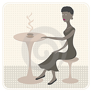 African Girl In Cafe Royalty Free Stock Photos - Image: 10574978