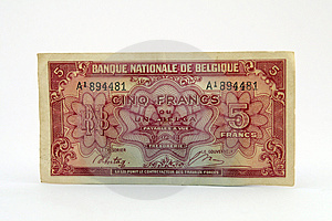 Old Currency Bill Royalty Free Stock Photography - Image: 1070587