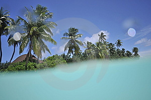 Tropical Island With In The Lagoon Stock Images - Image: 10753114