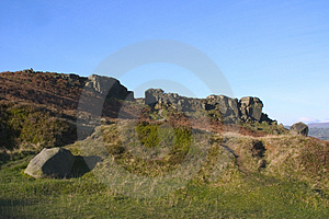 Cow And Calf Rocks, Ilkley Moor, West Yorkshire Royalty Free Stock Photos - Image: 1084398