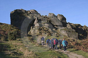 Cow And Calf Rocks, Ilkley Moor, West Yorkshire Stock Photos - Image: 1084553