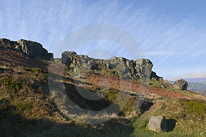 Cow And Calf Rocks, Ilkley Moor, West Yorkshire Royalty Free Stock Photo - Image: 1084685