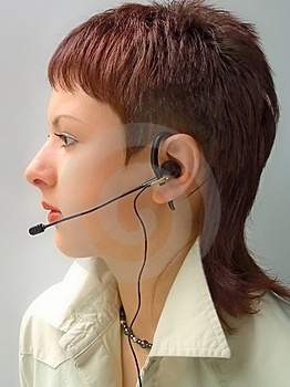 Woman Operator Stock Photo - Image: 1089560