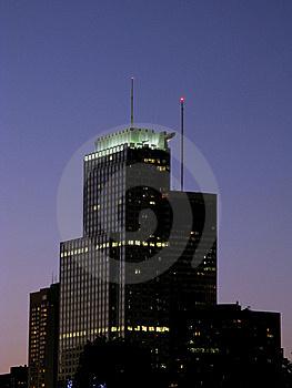 Modern Skyscrapers At Night Royalty Free Stock Photo - Image: 10811075