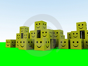 Happy Cubes 6 Royalty Free Stock Photos - Image: 1092608