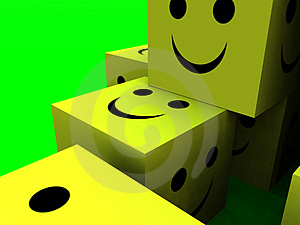 Happy Cubes 8 Stock Image - Image: 1092621