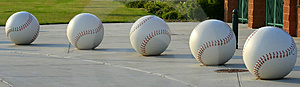 Five Giant Baseballs Royalty Free Stock Photo - Image: 1092875