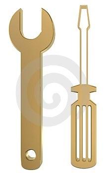 Ключ и водитель Стоковая Фотография RF - изображение: 1099547
