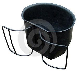 Taza de acero Fotos de archivo