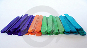 Colorful Popsicle Sticks Stock Photography