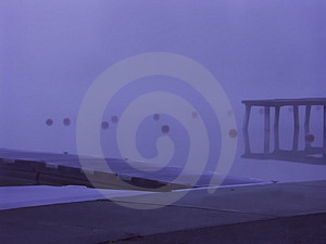 Fog Dock Stock Photography