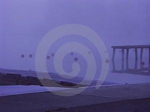 Fog Dock Stock Photography
