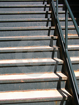 Escadaria velha Foto de Stock Royalty Free