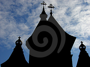 Church Silhouette Stock Photography