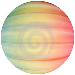 Покрашенная сфера Стоковая Фотография RF
