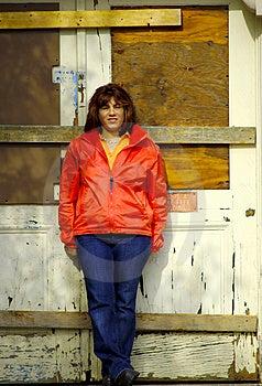 Boarded Up Door Stock Photo