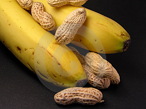 Peanuts And Bananas Free Stock Images