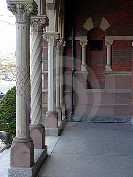 Town Hall Columns Stock Photos