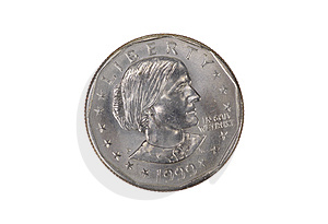 Susan B Anthony Coin Stock Photo