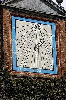 Sundial At 11 Stock Photo