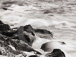 Sea running Stock Photography