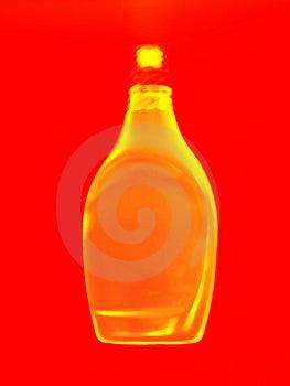 Golden Bottle Abstract Stock Photos