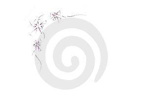 Abstract Flower Border Stock Image
