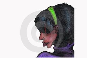 Murzynka profil Zdjęcie Stock