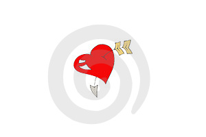 Arrow through the heart Royalty Free Stock Image