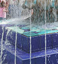 Blue Fountain Royalty Free Stock Photos