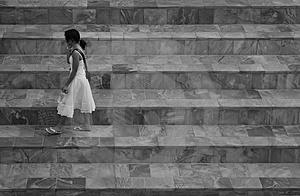 Walking Girl Royalty Free Stock Image - Image: 1100086
