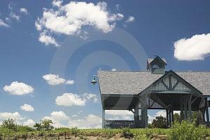 海滩小屋在夏天 库存图片 - 图片: 1109434