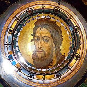 Jesus stock image. Image of loving, dome, metal, painting - 11008775