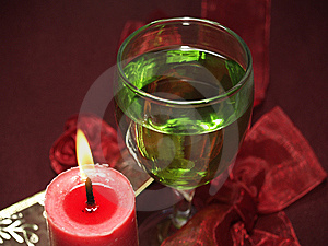 Glass And Candle Royalty Free Stock Photo - Image: 11058885