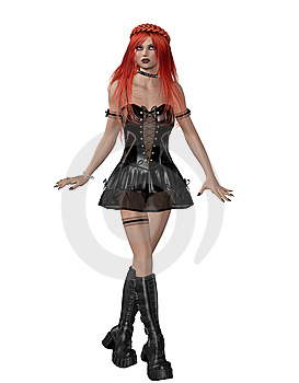 Goth girl 3 Stock Photo