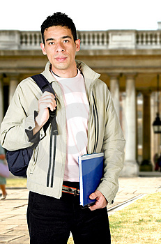 Casual student at university Free Stock Image