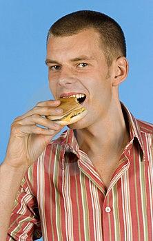 Man East Burger Stock Photo - Image: 1110800