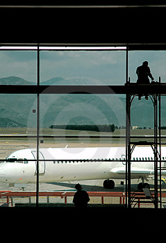 Airport Workers Stock Photo - Image: 1111090