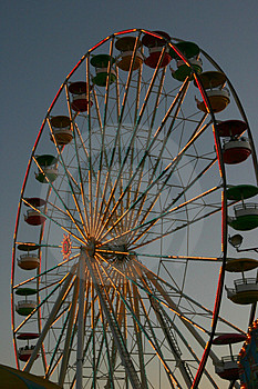 Ferris Wheel At Dusk Stock Image - Image: 1112321