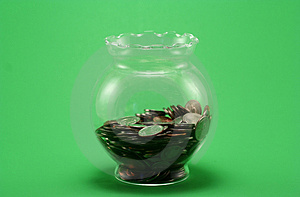 Jar Of Coin Stock Photo - Image: 1112970