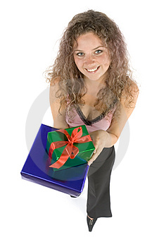 Woman With Gifts Royalty Free Stock Image - Image: 1115796