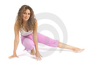 Woman Does Exercise Stock Photography - Image: 1115882