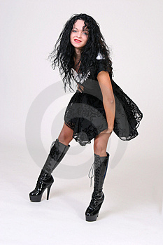 Boots And Showy Dress Stock Images - Image: 1117144