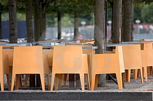 Deserted Cafe Royalty Free Stock Image - Image: 1117576