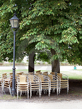 Chairs In The Shade Royalty Free Stock Photo - Image: 1118135