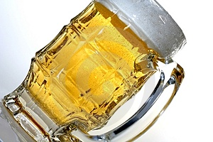 Beer Glass On An Angle Royalty Free Stock Image - Image: 1118386