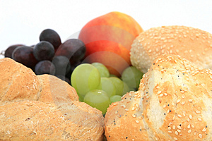 Healthy breakfast rolls Royalty Free Stock Images