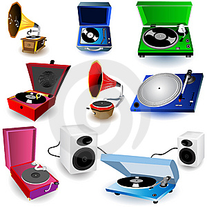 Gramophone icons