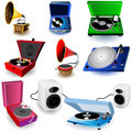 Gramophone icons Royalty Free Stock Photo